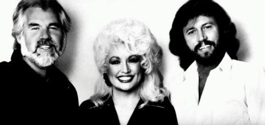 ドリー・パートンとバリー・ギブと一緒のケニー・ロジャース