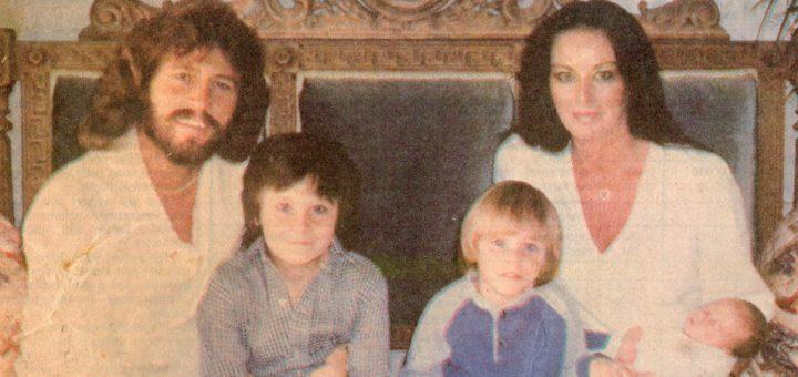 バリー・ギブと家族(1981年の新聞記事より)