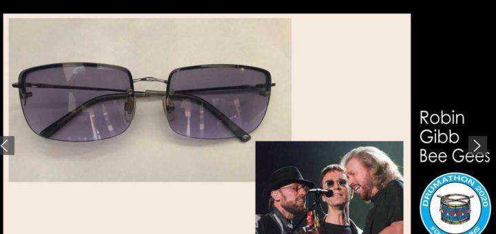 ロビン・ギブの眼鏡が家族によってチャリティ/オークションに寄付されました